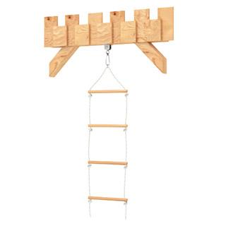 Sprossenleiter mit hölzernen Sprossen für Spielturm Klettergerüst BIBEX