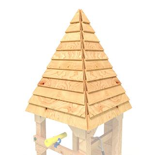 Design Spielturm Spitzdach Ritterburg BIBEX