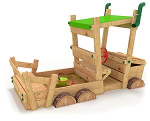 LKW mit Holzrädern