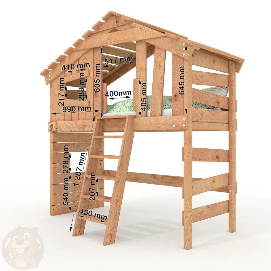 alpin chalet hochbett kinderbett doppelbett. Black Bedroom Furniture Sets. Home Design Ideas