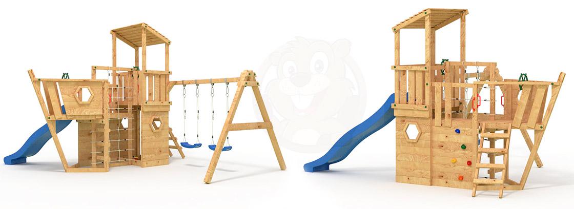 Spielturm und Klettergerüst für Garten, Kinderbetten und mehr ...